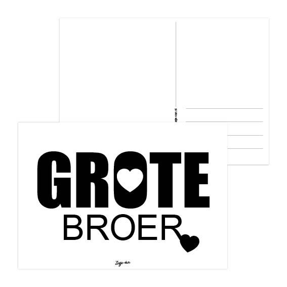 Grote broer A6 kaart Zusje-van Webshop