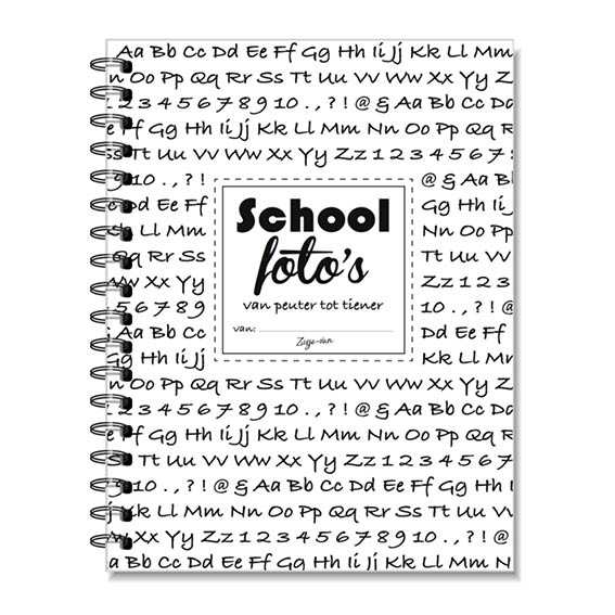 Schoolfoto boekje A5 Zusje-van Webshop
