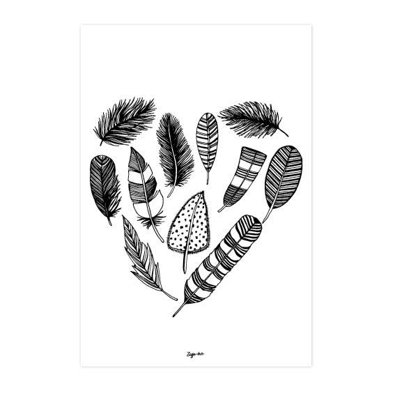 Veren hart A4 Zusje-van Webshop