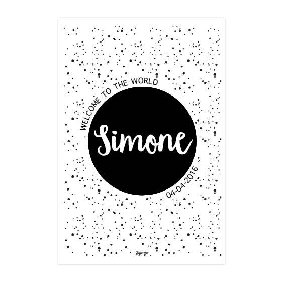 Geboorteposter Simone Zusje-van Webshop