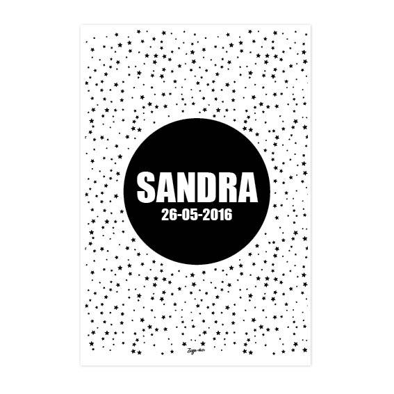 Geboorteposter Sandra Zusje-van Webshop