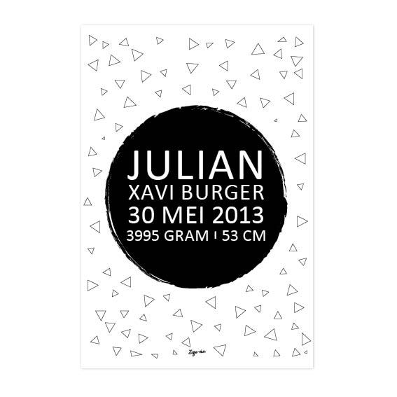 Geboorte poster Julian Zusje-van Webshop