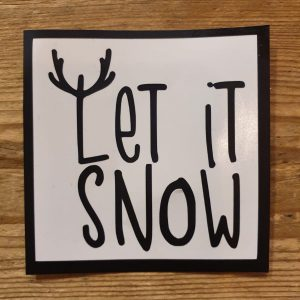 Let it snow kerstbalsticker