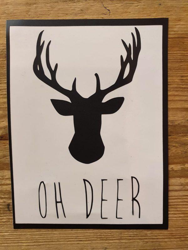 kerstbalsticker oh deer